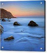 Milky Blue Acrylic Print by Mark Leader