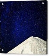 Milky Way Above White Mountain Acrylic Print