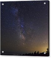 Milky Way And Light Pollution Acrylic Print
