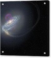 Milky Way And Surrounding Dwarf Galaxies Acrylic Print