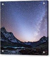 Milky Way And Zodiacal Light Ove Acrylic Print