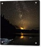 Milky Way At Crafnant Acrylic Print