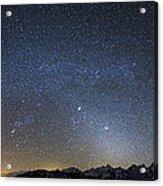 Milky Way Galaxy Over Jackson Hole Acrylic Print