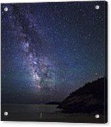 Milky Way On Sand Beach Acrylic Print