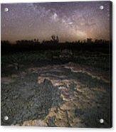 Milky Way On The Rock Acrylic Print
