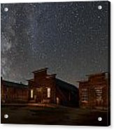 Milky Way Over Downtown Bodie Acrylic Print