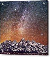 Milky Way Over Grand Teton Acrylic Print
