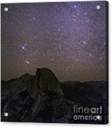 Milky Way Over Half Dome, Yosemite, Usa Acrylic Print