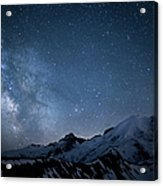 Milky Way Over Mount Rainier Acrylic Print