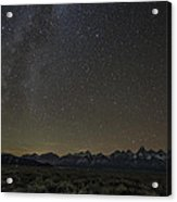 Milky Way Over The Tetons Acrylic Print