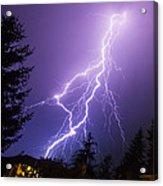 Mill Creek Lightning Acrylic Print