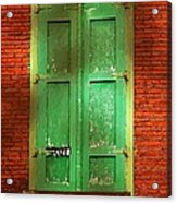Mill Door In Dappled Sunlight Acrylic Print
