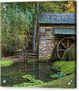 Mill Pond In Woods Acrylic Print