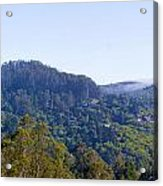Mill Valley Ca Hills With Fog Coming In Left Panel Acrylic Print