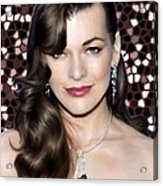 Milla Jovovich Acrylic Print