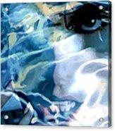 Milla Jovovich Portrait - Water Reflections Series Acrylic Print