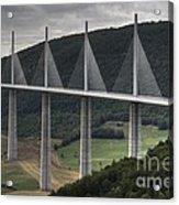 Millau Viaduct In France Acrylic Print