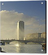 Millbank Tower During Fog, Lambeth Acrylic Print