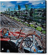 Mille Miglia On Board With Peter Collins Acrylic Print