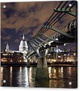 Millennium Bridge Acrylic Print by Stephen Norris