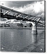 Millennium Foot Bridge - London Acrylic Print