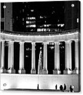 Millennium Monument And Fountain Chicago Acrylic Print