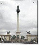 Millennium Monument Budapest Acrylic Print