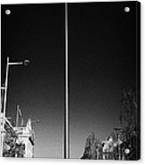 millennium needle spire of dublin monument of light and dublin bus in road in O'Connell Street Dublin Acrylic Print