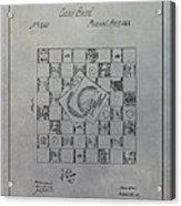 Milton Bradley Life Game Patent Acrylic Print