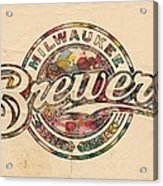 Milwaukee Brewers Poster Vintage Acrylic Print