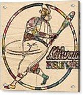 Milwaukee Brewers Vintage Art Acrylic Print