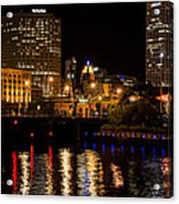 Milwaukee River And Downtown Skyline Acrylic Print