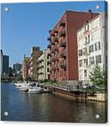 Milwaukee River Architechture 1 Acrylic Print