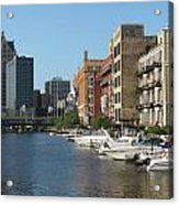 Milwaukee River Architecture 2 Acrylic Print