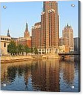 Milwaukee River Theater District 4 Acrylic Print