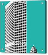 Milwaukee Skyline 1 - Teal Acrylic Print
