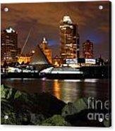 Milwaukee Skyline At Dusk Acrylic Print