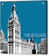 Milwaukee Skyline City Hall - Steel Acrylic Print