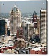 Milwaukee Wisconsin Skyline Aerial Acrylic Print