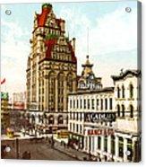 Milwaukee's Wisconsin Street 1899 Acrylic Print
