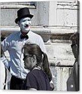 Mime In Venice Acrylic Print
