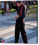 Mime Performer On The Street Acrylic Print