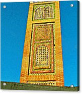 Minaret For Call To Prayer In Tangiers-morocco Acrylic Print
