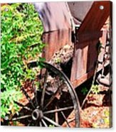 Mine Cart Lost In Time V2 Acrylic Print