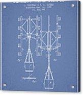 Mine Shaft Safety Device Patent From 1899 - Light Blue Acrylic Print