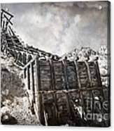 Mine Structure In Silver City Acrylic Print