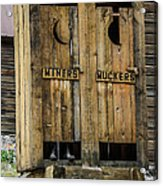 Miners And Muckers Outhouse Acrylic Print