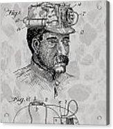 Miner's Lamp Patent Acrylic Print