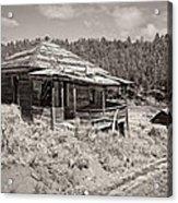 Miner's Shack - Comet Ghost Mine - Montana Acrylic Print