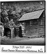 Mingus Mill -- Black And White Poster Acrylic Print